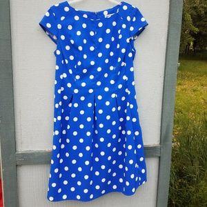 Shelby & Palmer Polka Dot Blue and White Dress